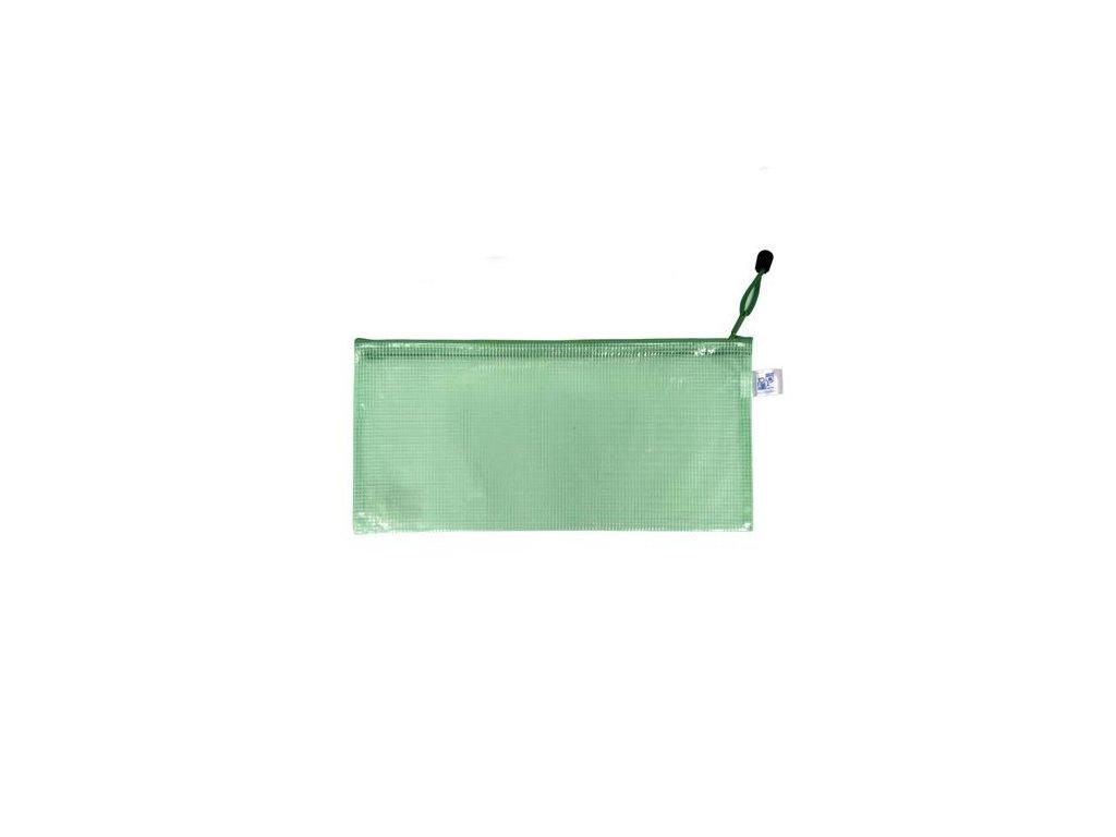 Obálka DL se zipem zelená PP