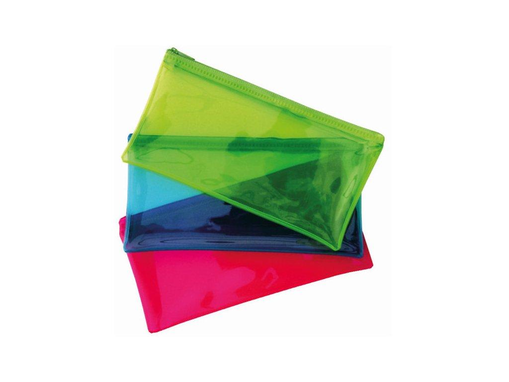 Obálka plastová se zipem DL neon modrá