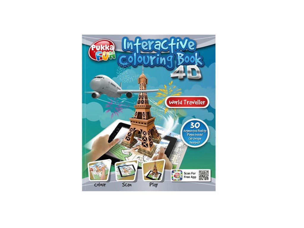 Omalovánka interaktivní 4D Cestovatel