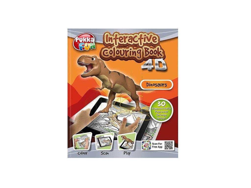 Omalovánka interaktivní 4D Dinosauři