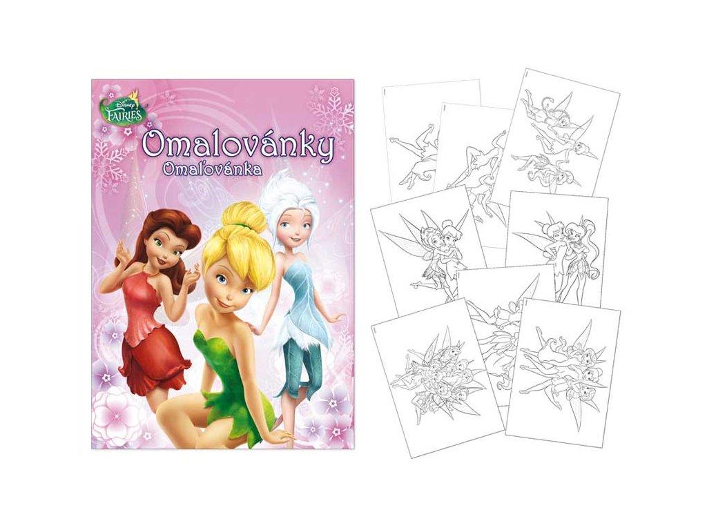 Omalovánky A4 Disney (Fairies)