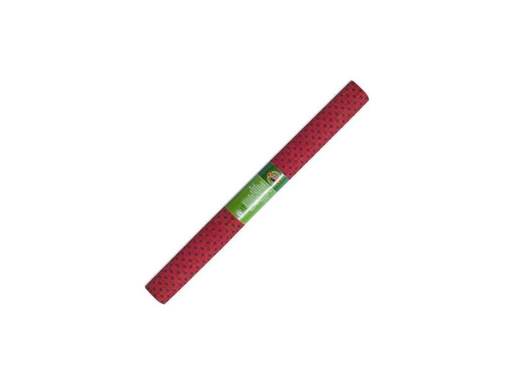 krepovy papir teckovany cerveno cerny koh c 51
