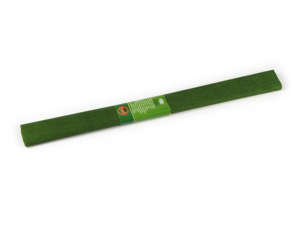 krepovy papir zeleny olivovy