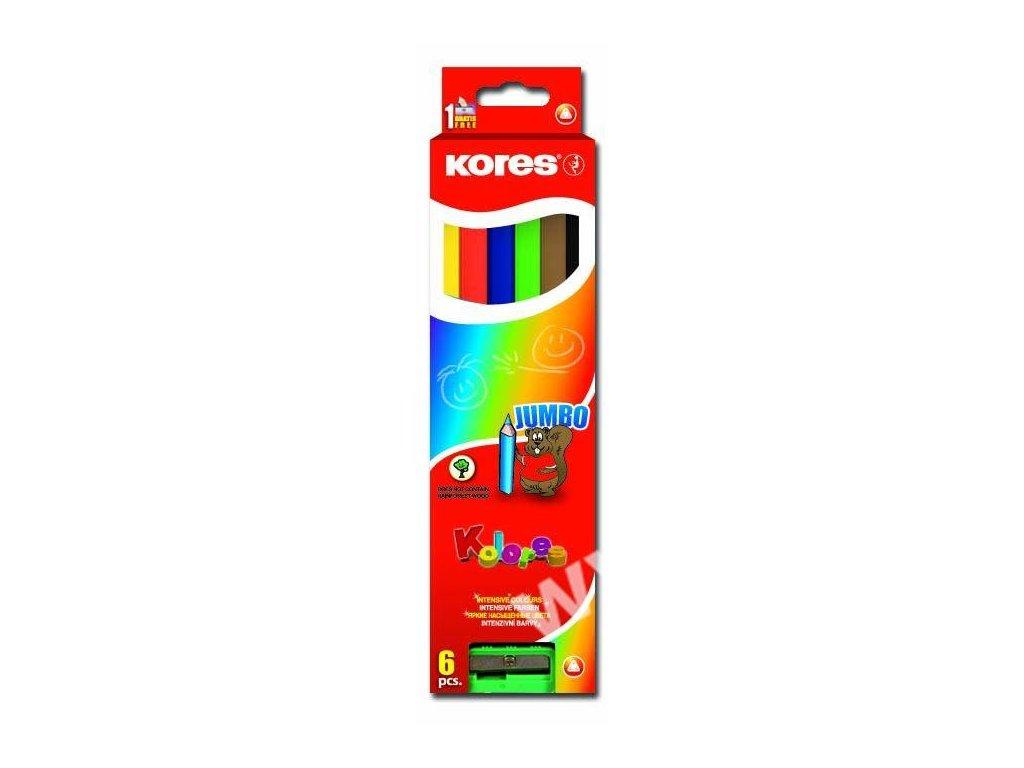 9023800935069 pastelky trojhranné jumbo6ks