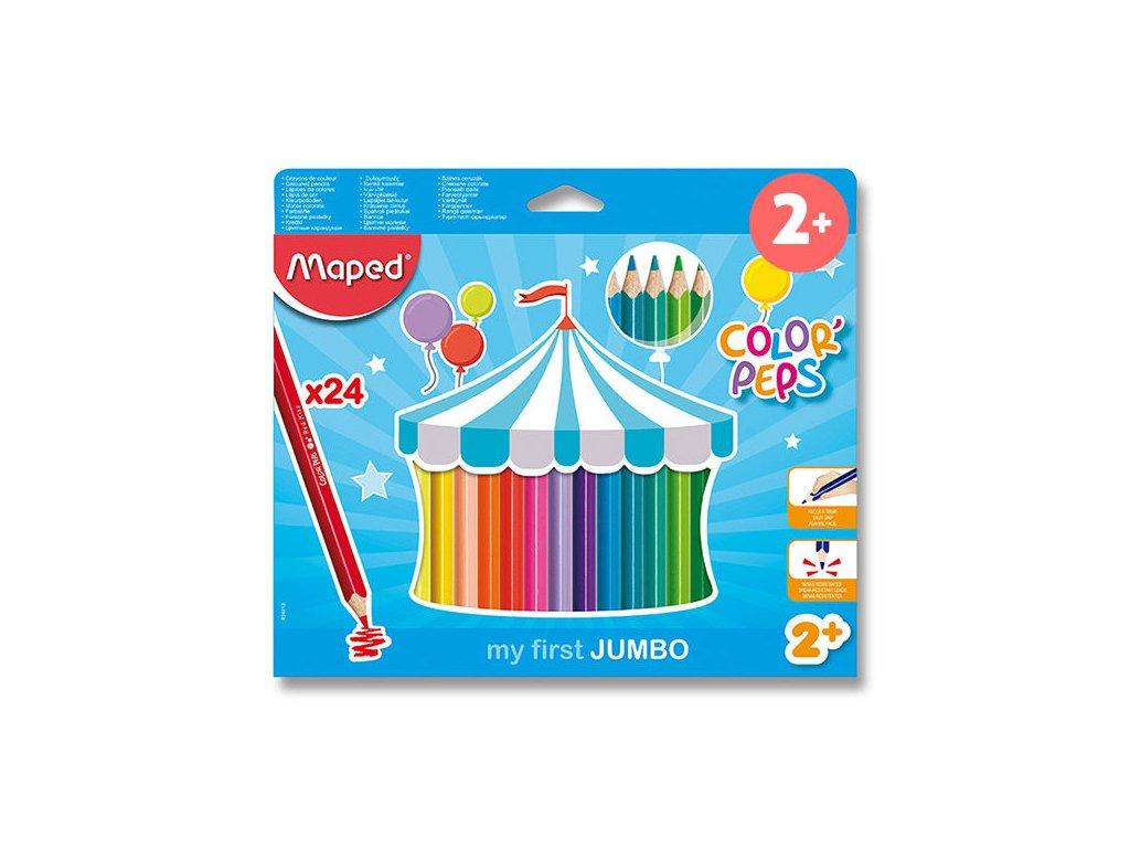 Pastelky Maped Maxi trojhranné 24ks