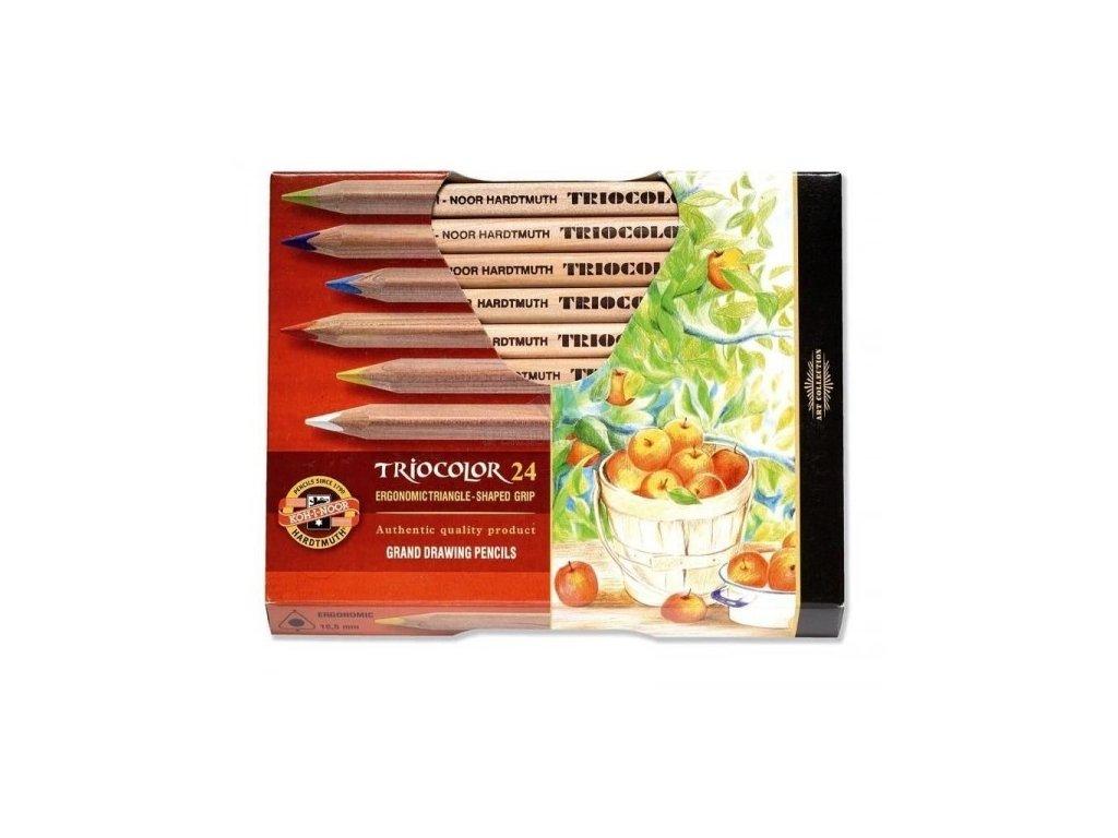 Pastelky TRIOCOLOR 24 ks přírodní trojhranné 3154 N 24