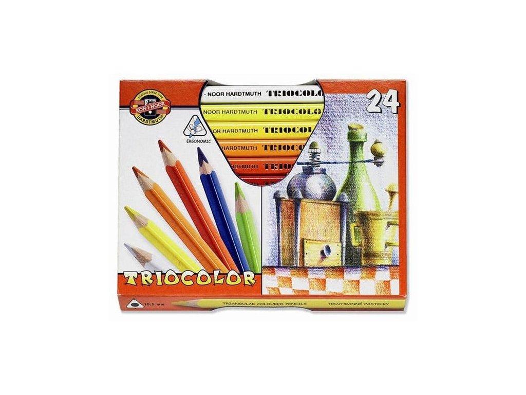 Pastelky TRIOCOLOR 24 ks lakované trojhranné 3154 24