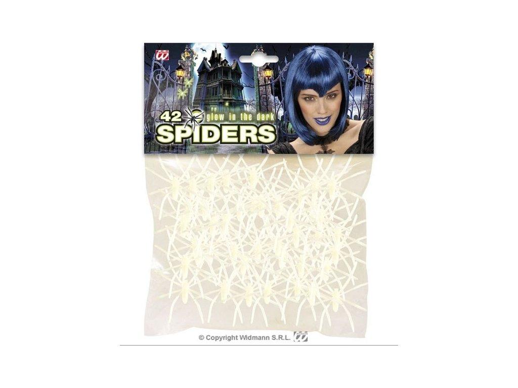 Pavouci 42ks bílí