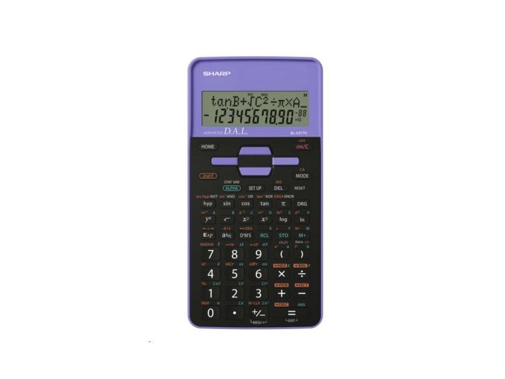 Kalkulačka SHARP EL 531TH-VL fialová