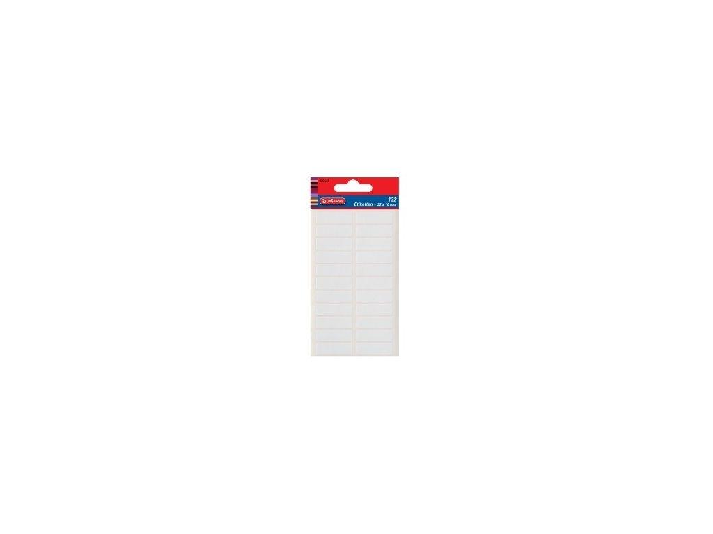 Etikety kancelářské bílé 34 x 12 mm