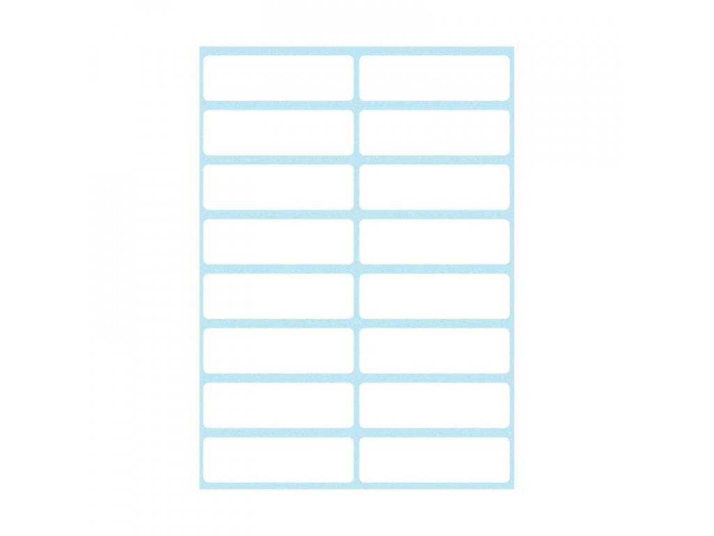 Etikety kancelářské bílé 12 x 40 mm