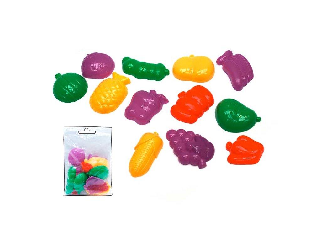Tvořítka 3D 12ks sada na modelování,ovoce-zelenina