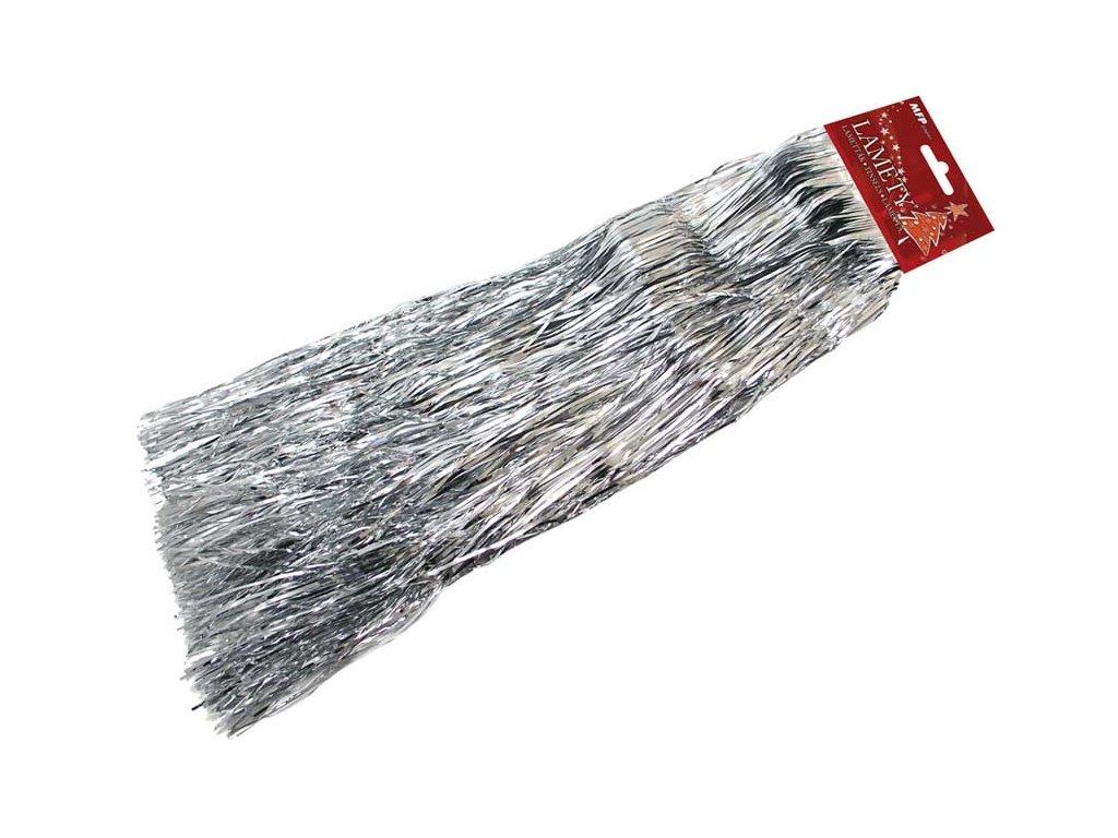 Lameta vánoční stříbrná metal širší
