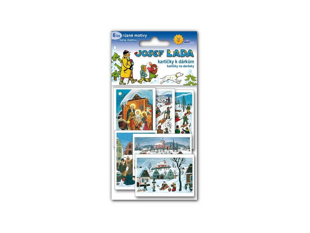 Jmenovky na dárky - Josef Lada (6ks)