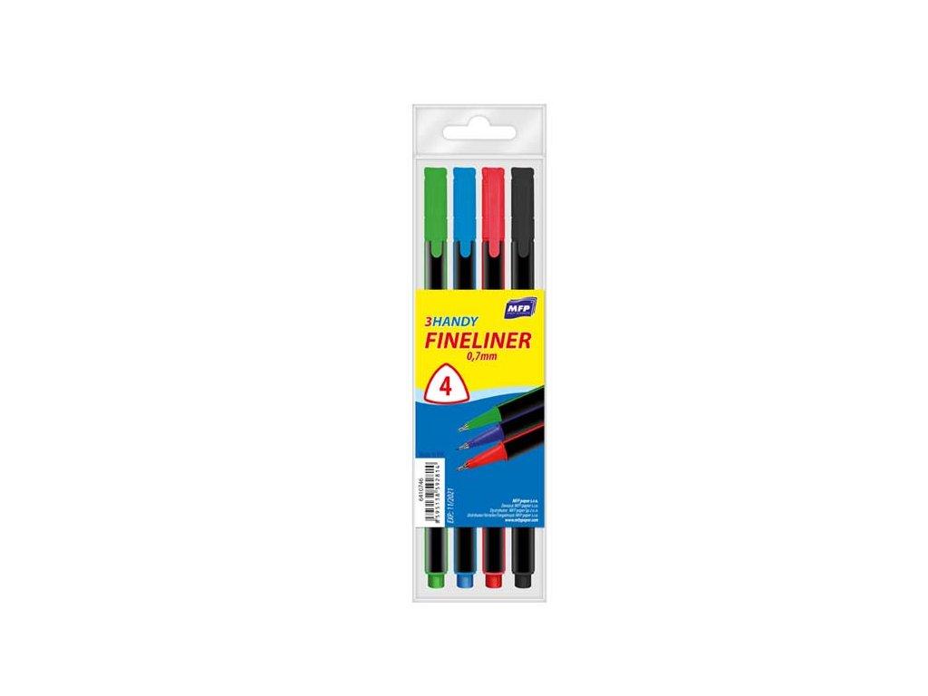 Popisovač FL  4 barvy 0,7mm trojhranné