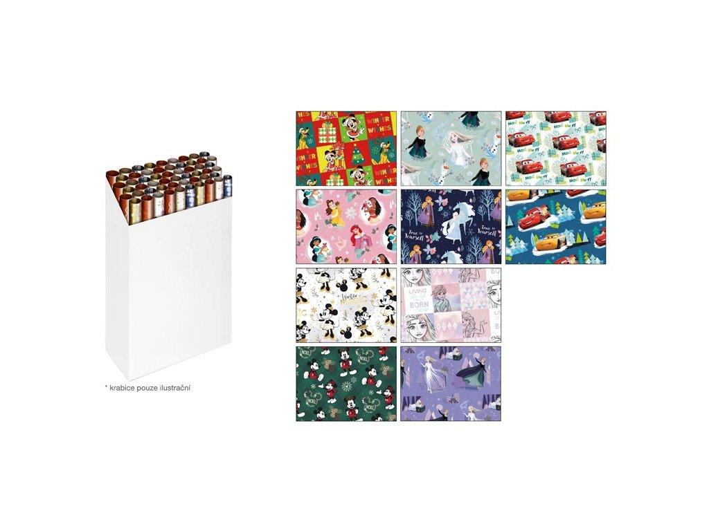 Balící papír vánoční role LUX Disney 2x100x70 MIX