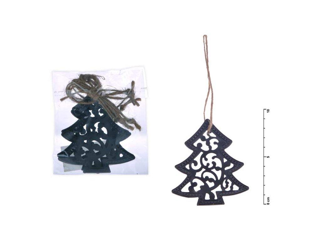 Stromek závěs kov černý mat 9cm