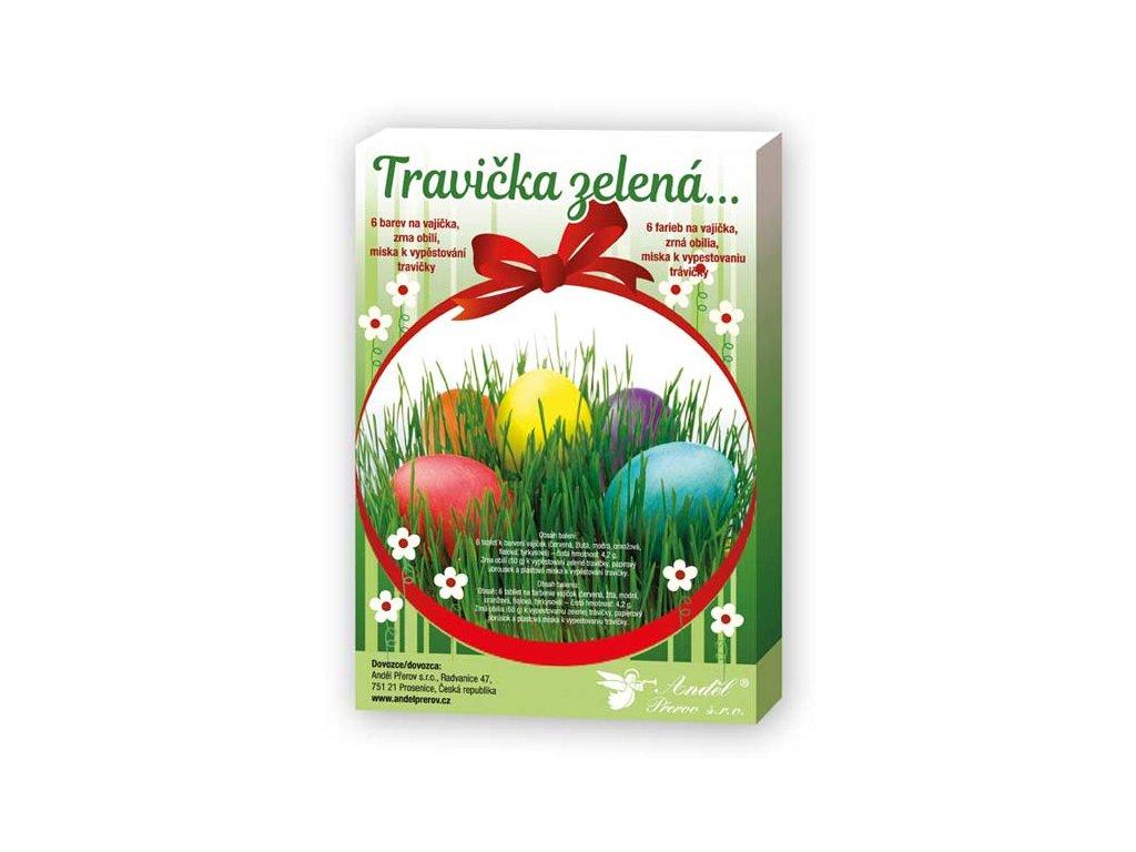 Sada 7711 k dekorování vajíček - travička zelená