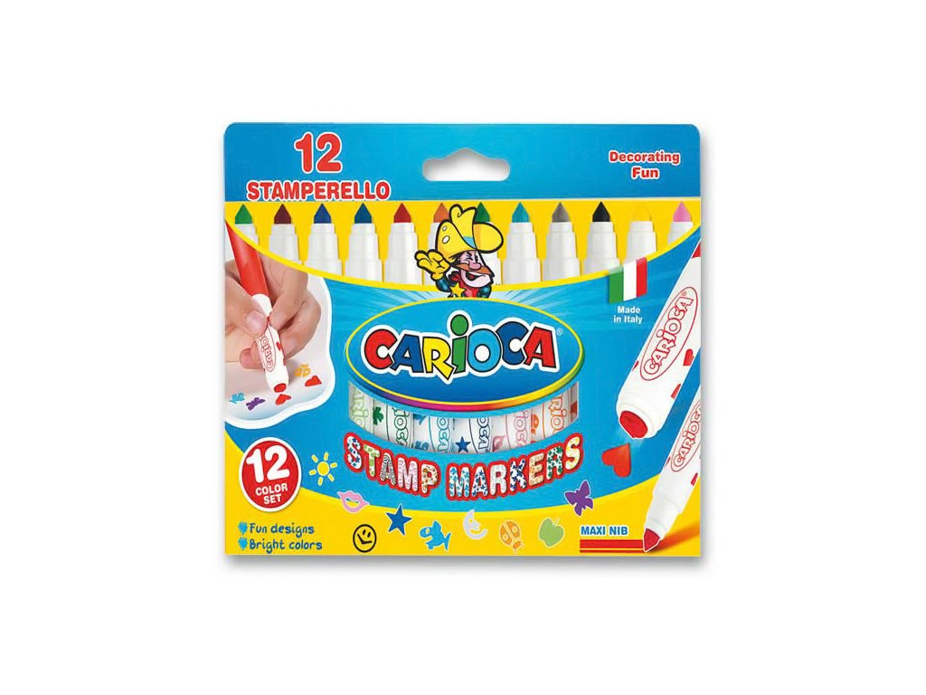 Popisovače fixy Carioca Stamp 12 ks