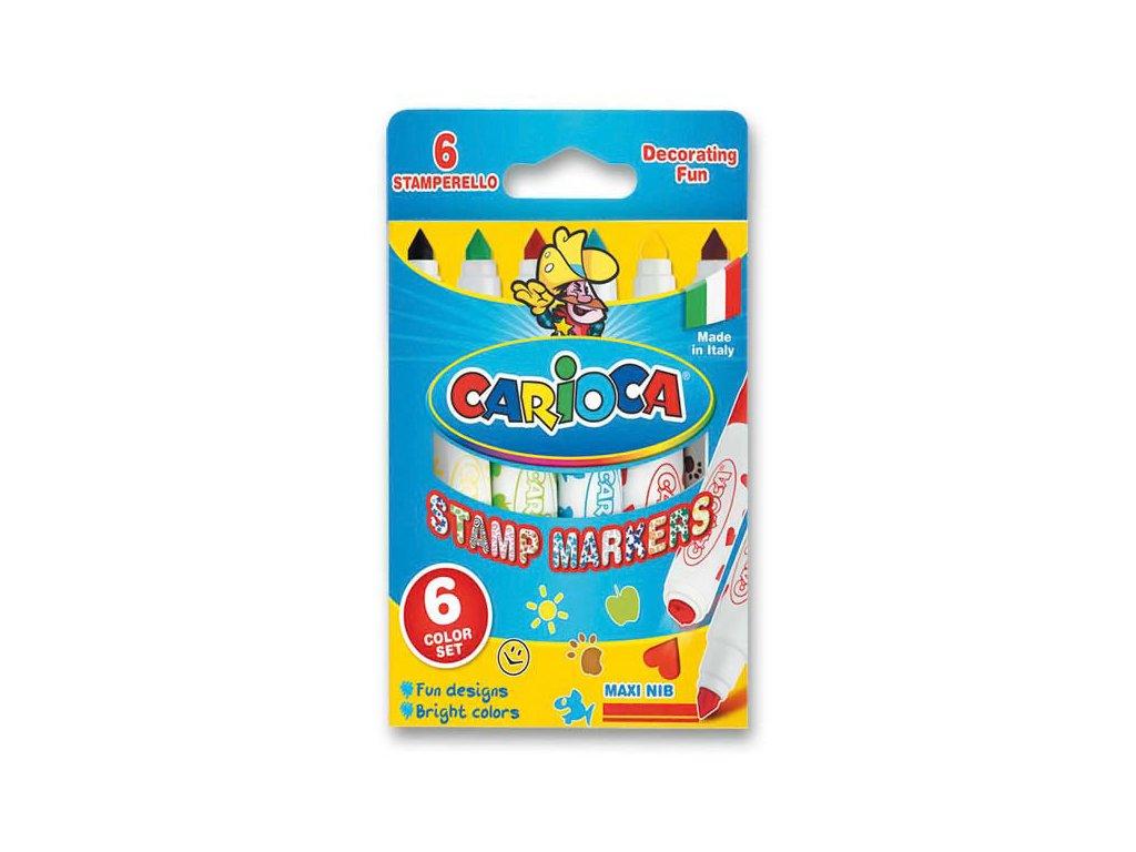 Popisovače fixy Carioca Stamp 6 ks
