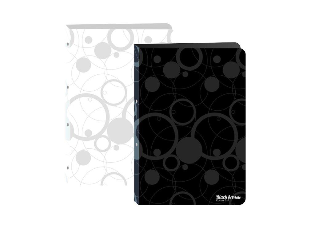 Pořadač PP A4 2kr. Black and White černá
