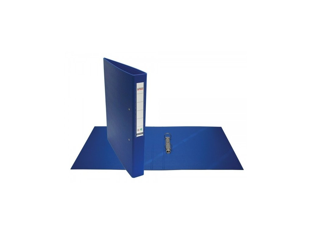 Pořadač 2kroužkový A4 President 4 cm modrý