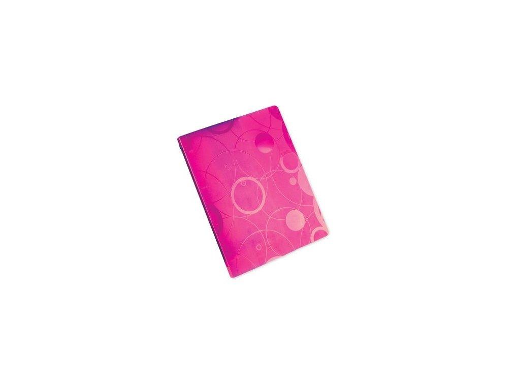 """Pořadač 4kroužkový  A4 """"Neo Colori"""" růžový"""