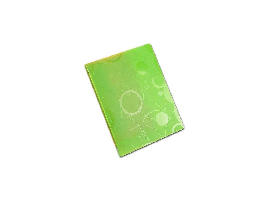 """Pořadač 4kroužkový  A4 """"Neo Colori"""" zelený"""