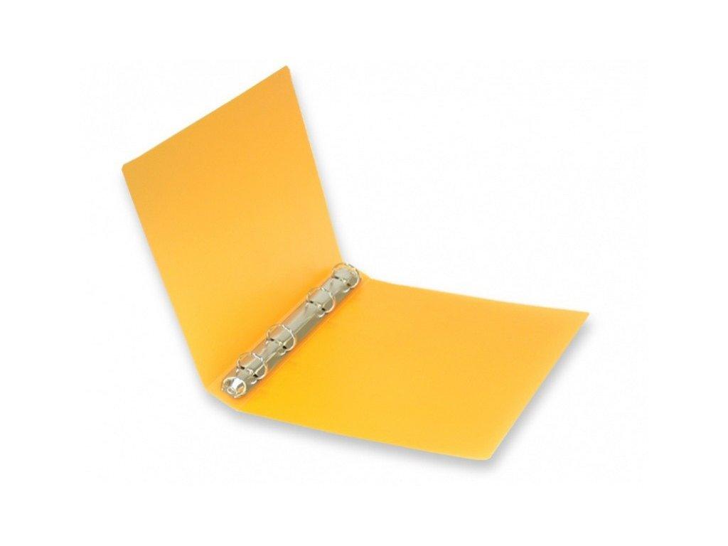 Pořadač 4kroužkový A5 oranžový