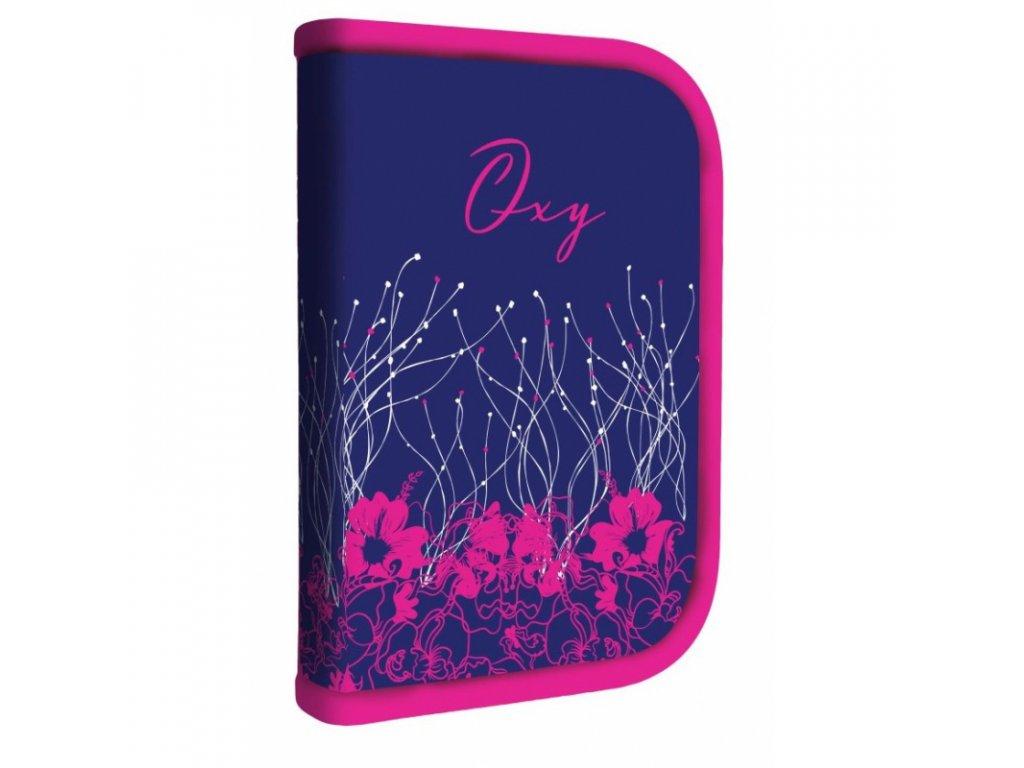 8595096783828 skolni penal 1 patrovy nenaplneny pink flower karton pp