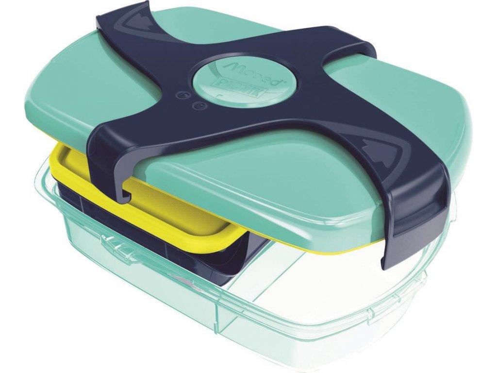 box na svacinu maped picnik concept ruzovy vnitrni zeleno modry