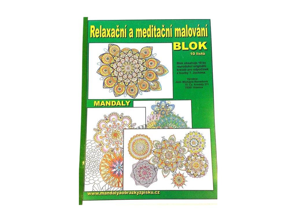Relaxační a meditační malování blok A3