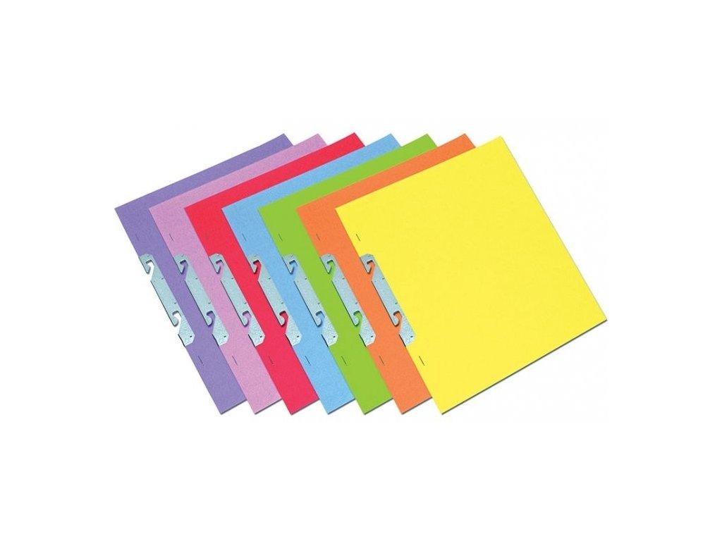 Rychlovazač A4 závěsný papírový mix barev