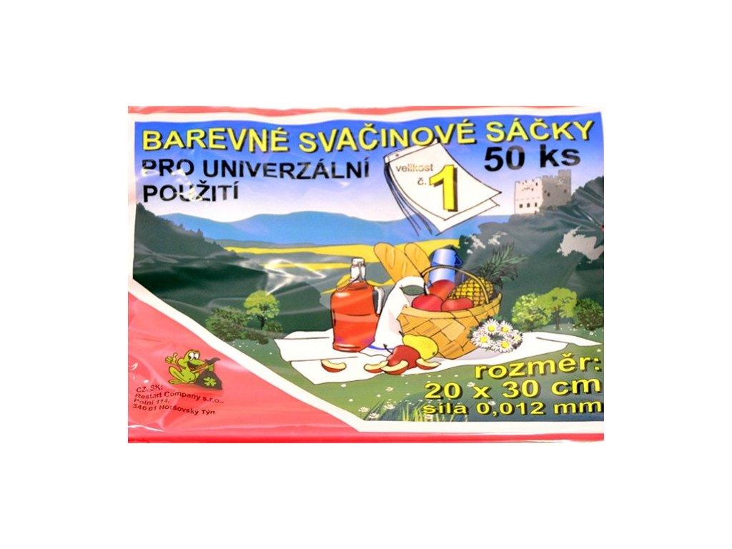 Sáčky svačinové č. 1 20 x 30 mm barevné