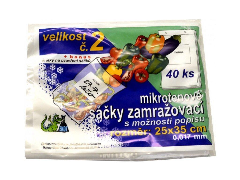Sáčky zamražovací č. 2 25 x 35 mm transparentní