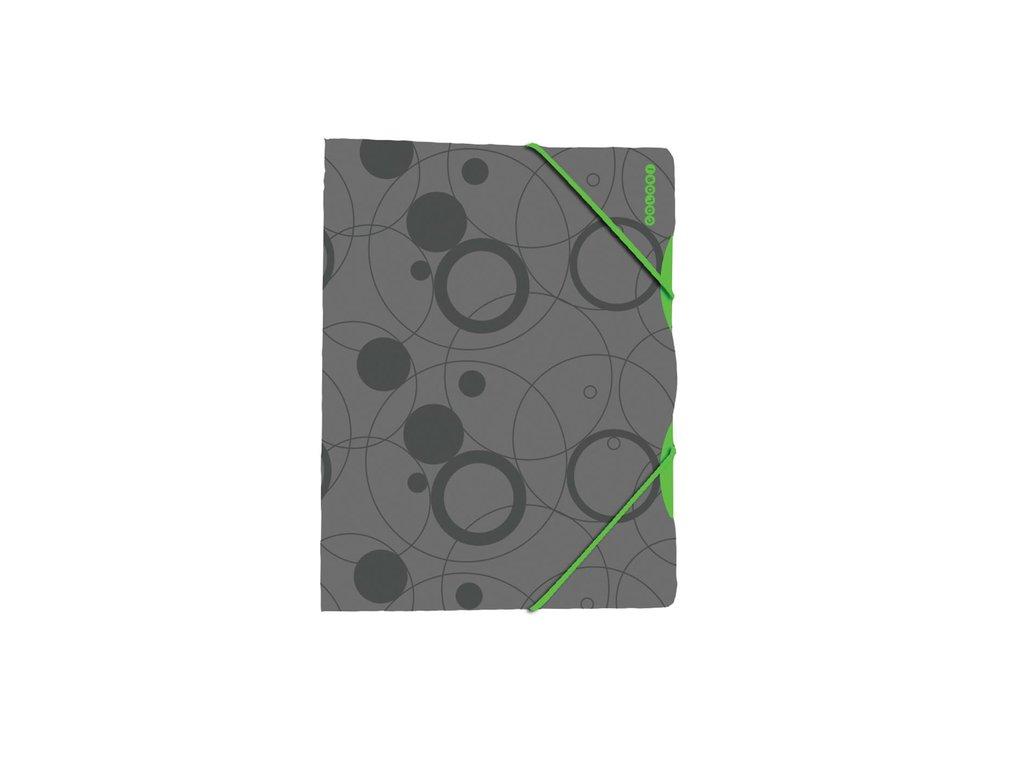 Složka A4 s gumou šedo-zelená