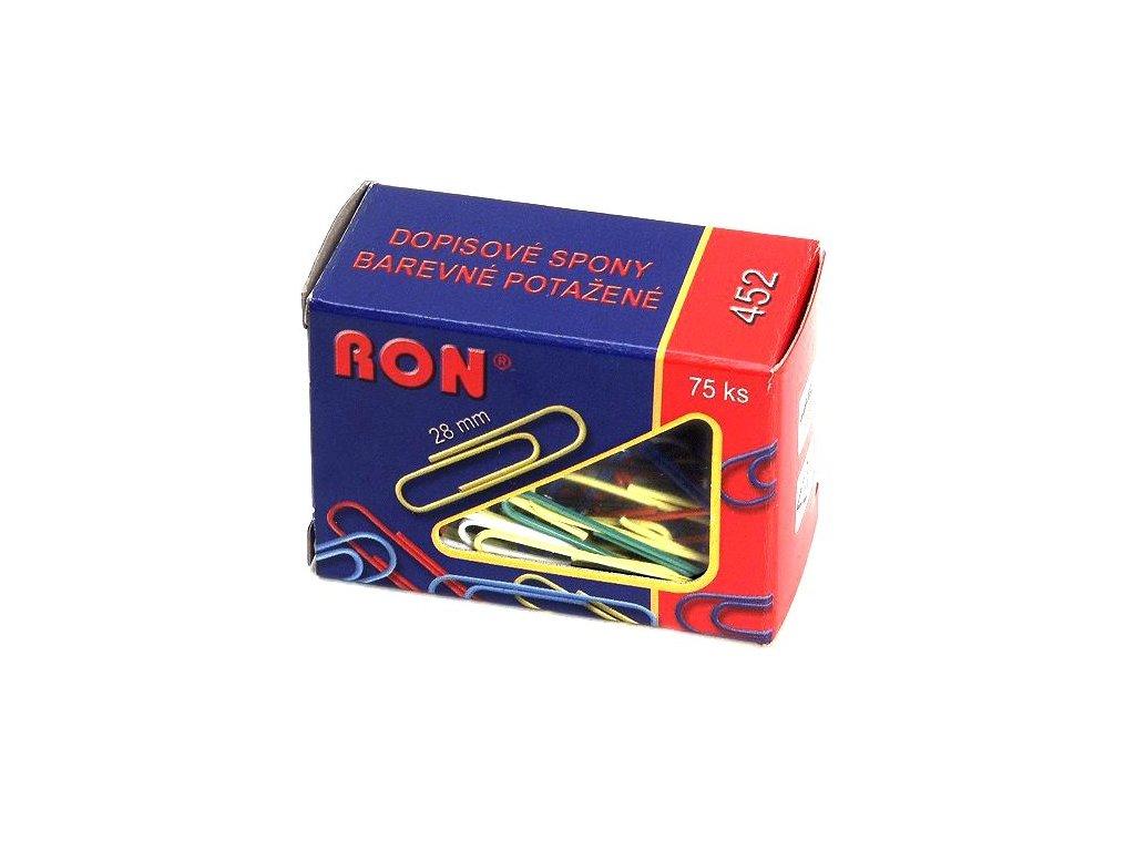 Spony dopisní RON barevné