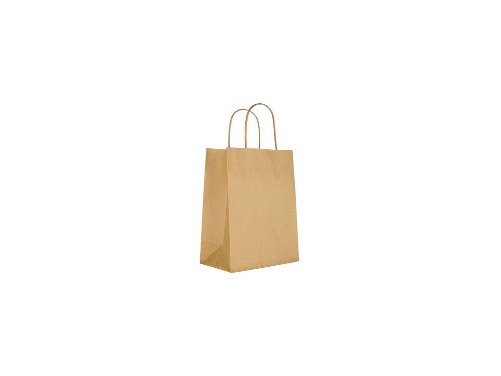 Taška dárková přírodní hnědá 25 x 32 x 11 cm