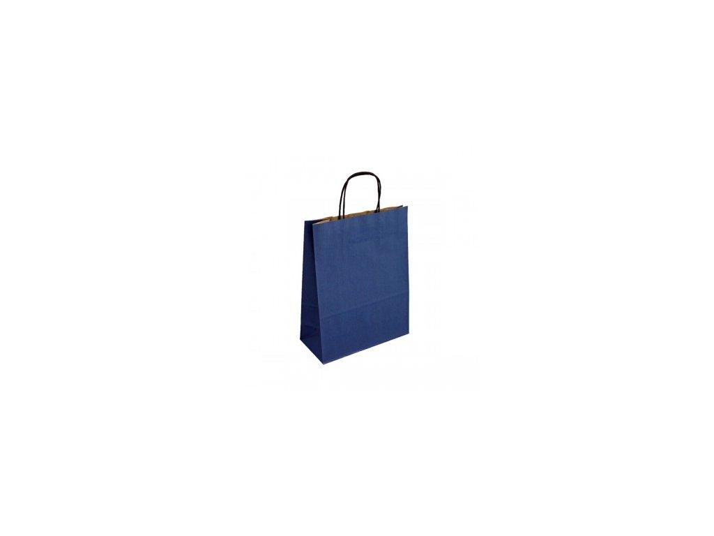 modra papirova taska toptwist 24x11x31
