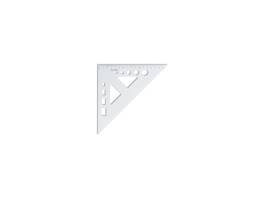 Trojúhelník s výřezem kolečka