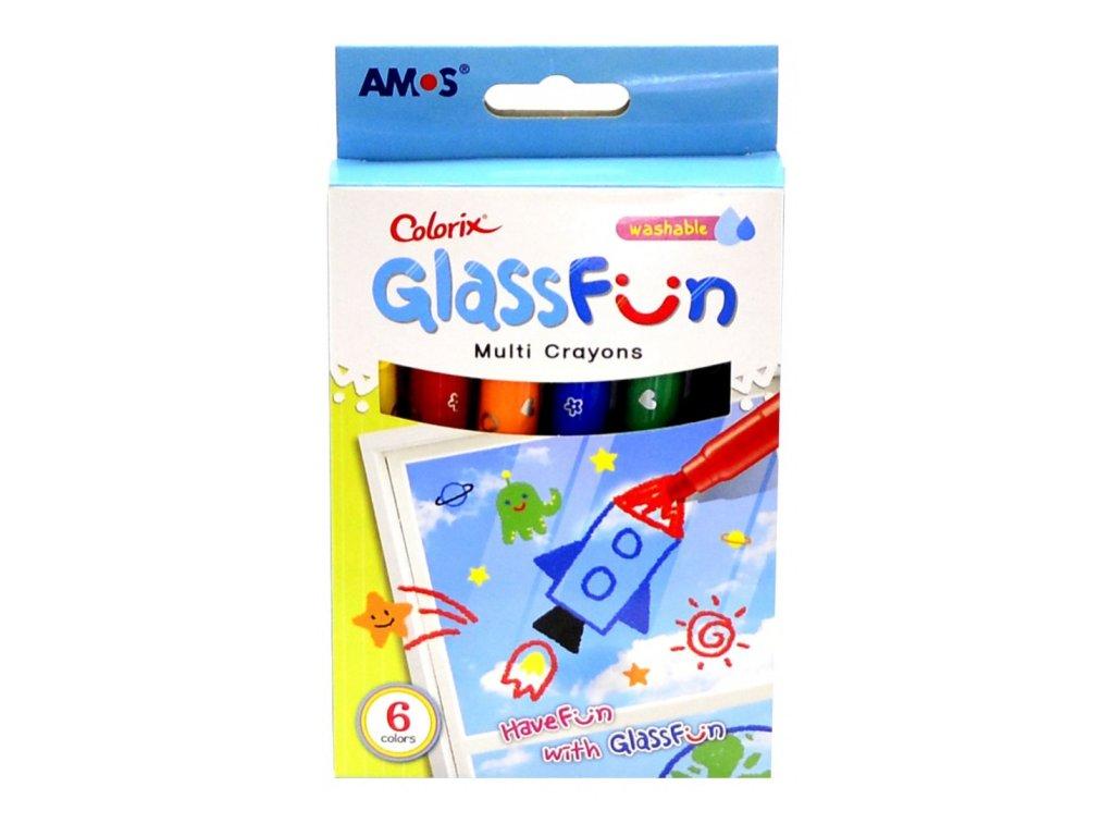 glass fun smyvatelne barvy na sklo 6 ks 1509 original