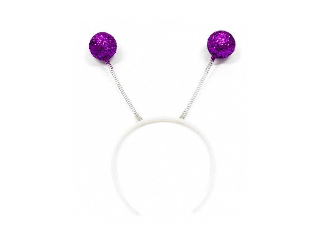 Tykadla fialový gliter