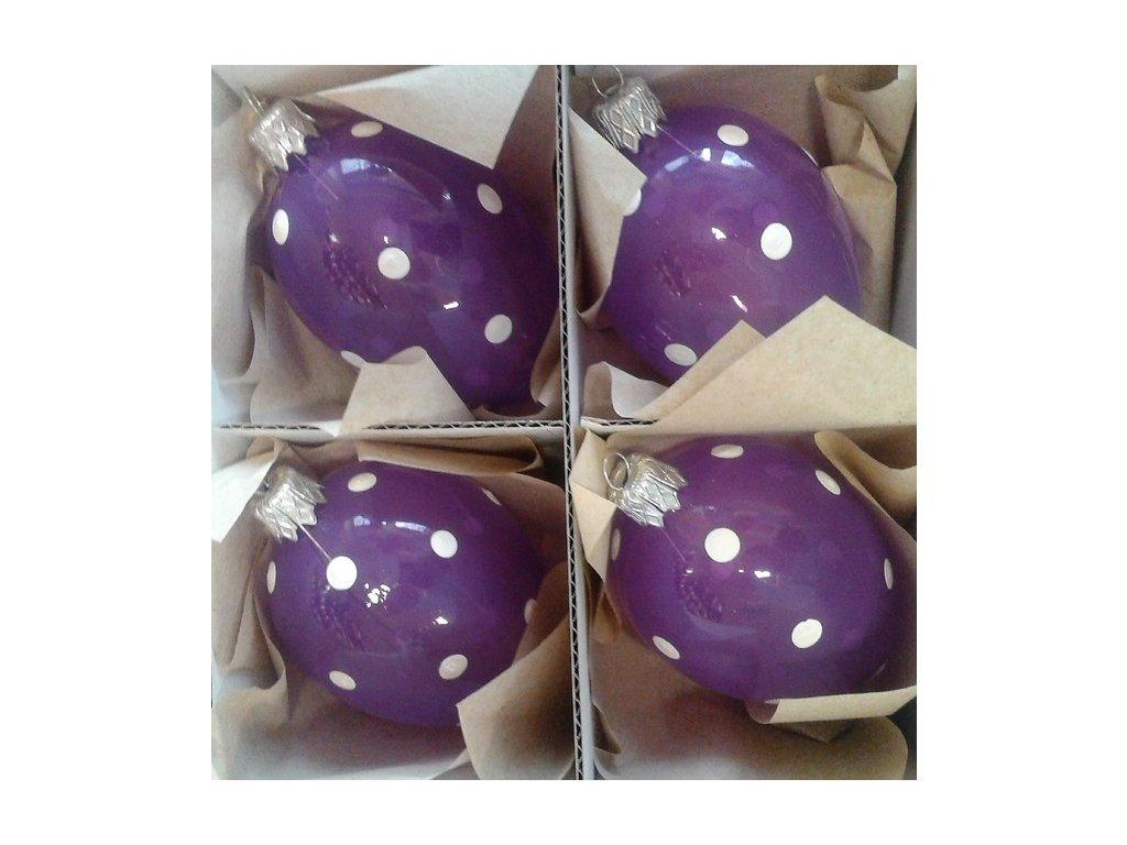 Velikonoční baňka IRISA - vejce velké 4 ks