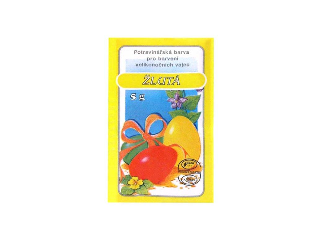 Velikonoční barvy na vajíčka 701 žlutá 5g