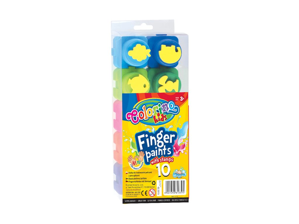 Barvy prstové Colorino 10 x 20 ml