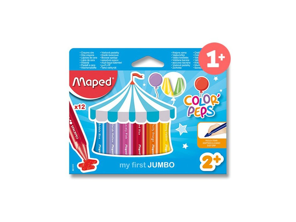 Voskové pastelky MAPED Wax Early Age Jumbo 12ks