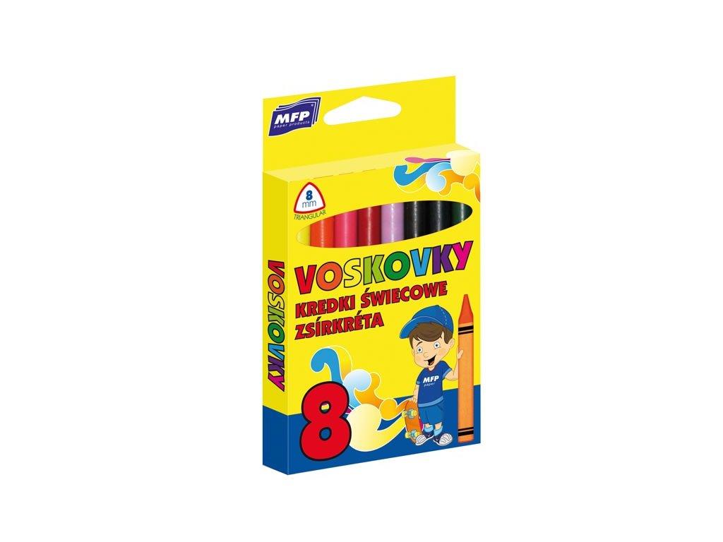 Voskovky   8 barev - trojhranné