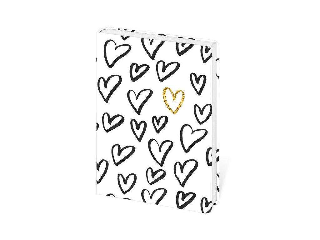 Zápisník Lyra Love linkovaný S