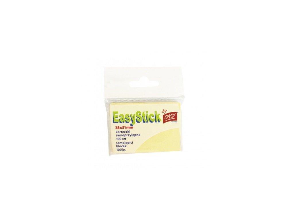 Bloček EASY 38 x 51 mm žlutý 100 listů