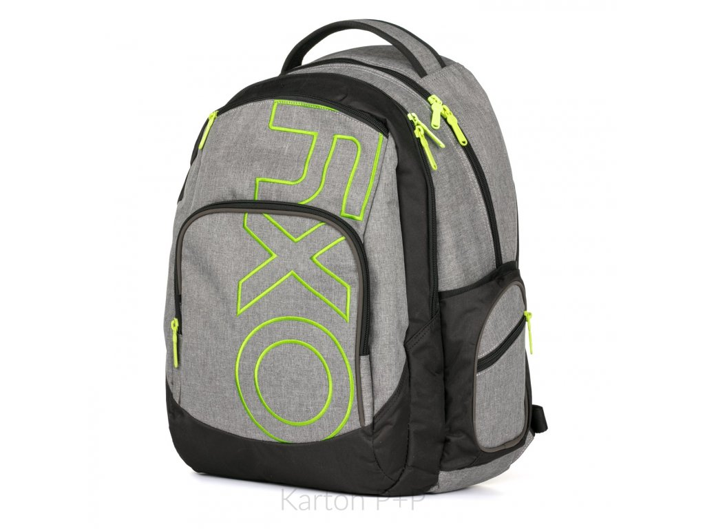 ba33a3e003 Studentský batoh kolekce 2019 OXY Style GREY LINE Green ...